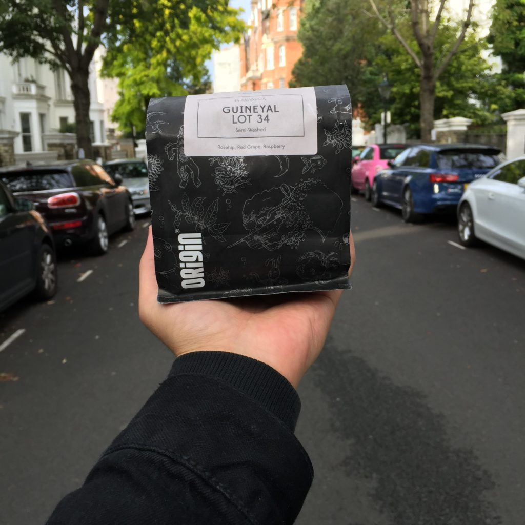 Origin Coffee UK packaging