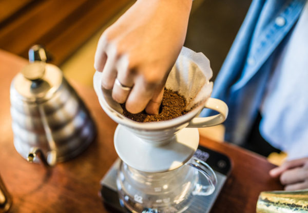 Hario V60 with coffee