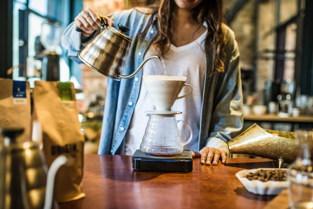 Hario dripper V60 side view