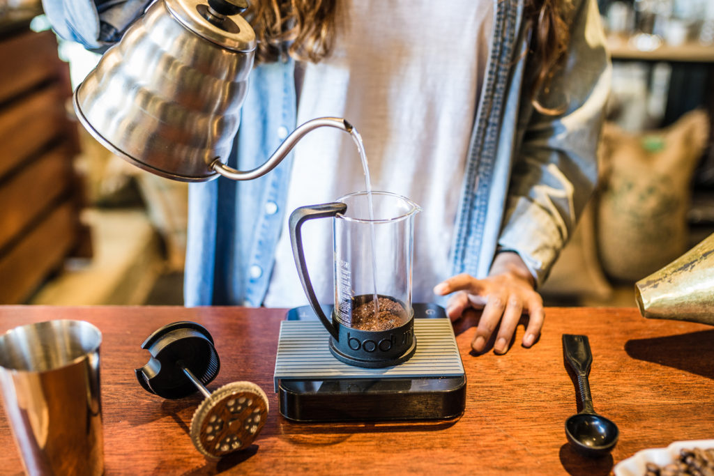 Brewing a French Press